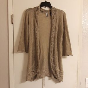 NWOT BKE Knit Cardigan Sweater Ties In Back S-L